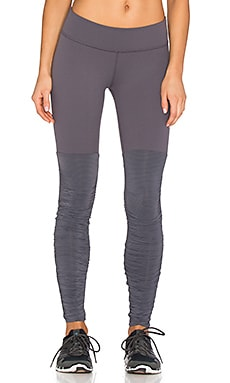 Beyond Yoga Sleek Stripe Leg Warmer Legging in Steel