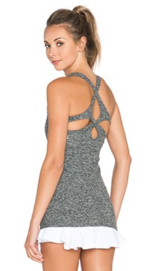 Beyond Yoga Space Dye Cut Out Cami in Black & White