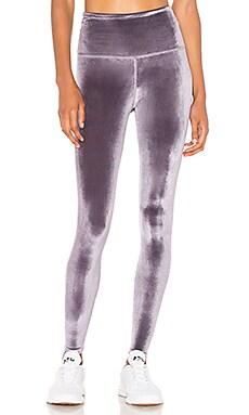 778e4c9abe919 alo High Waist Posh Velvet Legging in Black | REVOLVE