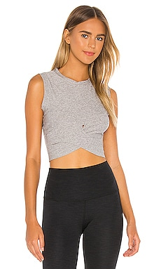 Under Over Cropped Muscle Tank Beyond Yoga $58 NEW