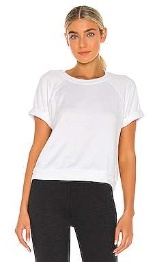 Solid Choice Short Sleeve Pullover Top Beyond Yoga $89 NOUVEAU