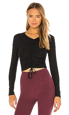 Scrunch It Up Cropped Pullover Beyond Yoga $26 (SOLDES ULTIMES)