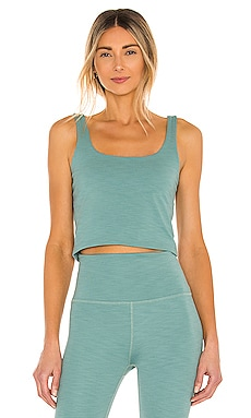 Keep It Simple Cropped Tank Beyond Yoga $72 NEW