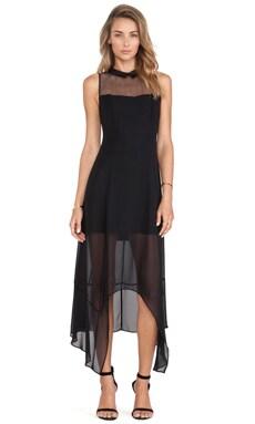 BCBGeneration Asymmetric Hem Dress in Black