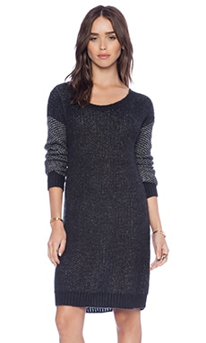 BCBGeneration Textured Sleeve Tunic Dress in Black Combo