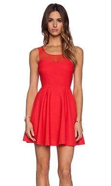 BCBGeneration Tie Back Dress in Passion