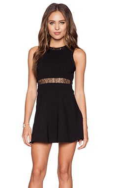 BCBGeneration Lace Insert Dress in Black