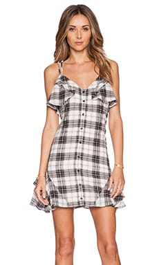 BCBGeneration Woven Casual Dress in Lena Combo