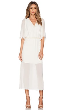 BCBGeneration Boho Dress in Whisper White