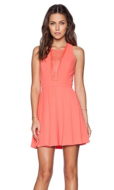 BCBGeneration Cocktail Dress in Salmon Wine