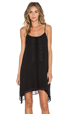 BCBGeneration Embroidered Front Dress in Black