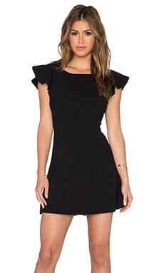 BCBGeneration Back Ruffle Dress in Black