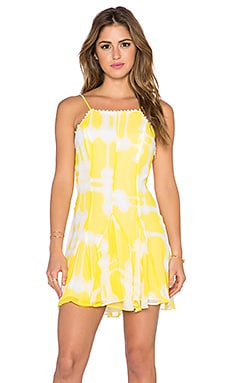 BCBGeneration Godet Slip Dress in Sunbeam Combo
