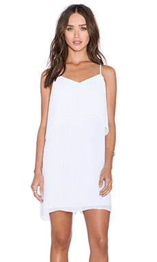 BCBGeneration Overlay Mini Dress in Optic White