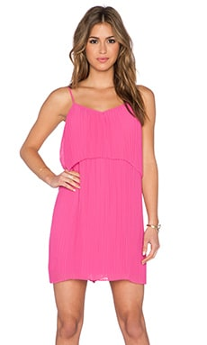 BCBGeneration Overlay Mini Dress in Wild Rose