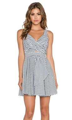 BCBGeneration Woven Cocktail Dress in Black Combo