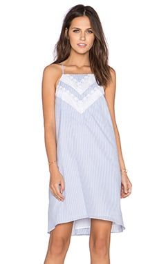 BCBGeneration Trim Bodice Dress in Pale Blue