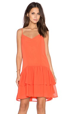 BCBGeneration Tie Back Dress in Hot Coral