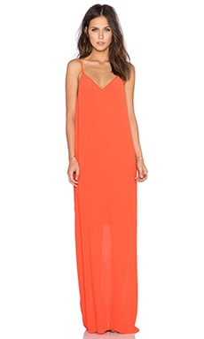 Pleated Dress in Hot Coral