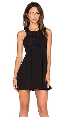 Lace Fit & Flare Dress in Black