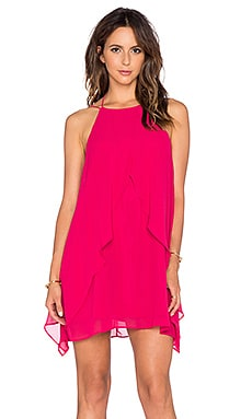 BCBGeneration Ruffle Tank Dress in Sangria