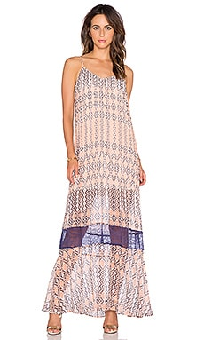 BCBGeneration Maxi Dress in Navy Sea Multi