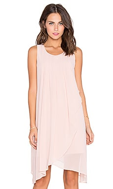 BCBGeneration Asymmetric Mini Dress in Rose Smoke