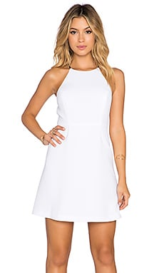 BCBGeneration Split Back Mini Dress in Optic White