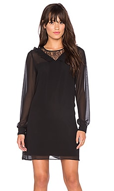 BCBGeneration Lace Shirt Dress in Black