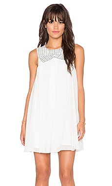 BCBGeneration Woven Dress in Whisper White