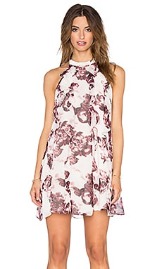BCBGeneration Floral Swing Dress in Deep Maroon Multi