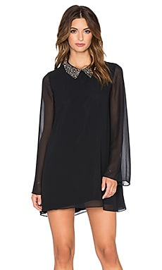 BCBGeneration Embellished Collar Mini Dress in Black