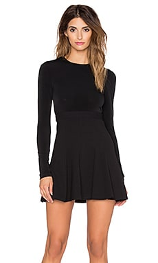 BCBGeneration Long Sleeve Fit & Flare Dress in Black