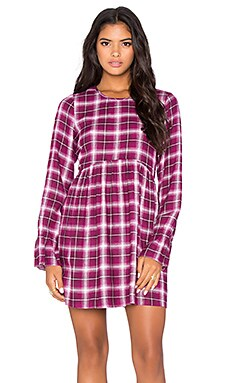 BCBGeneration Plaid Dress in Crushed Berry Combo