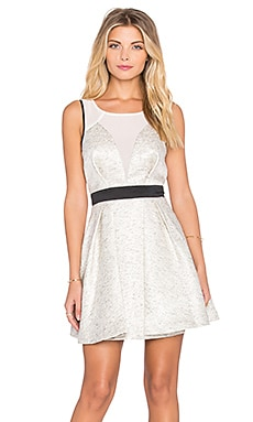 BCBGeneration Fit & Flare Mini Dress in Ivory Combo