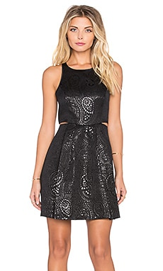 BCBGeneration Cut Out Mini Dress in Black Combo