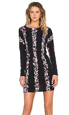 BCBGeneration Open Back Mini Dress in Black Multi