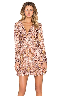 BCBGeneration Long Sleeve Mini Dress in Pink Coral Multi