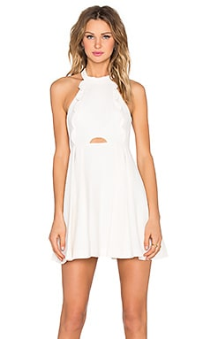 BCBGeneration Halter Mini Dress in Whisper White