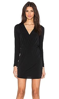 BCBGeneration Cross Front Long Sleeve Dress in Black