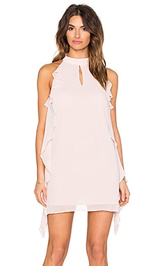 BCBGeneration Ruffled Mini Dress in Rose Smoke