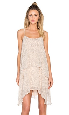 Layered Tank Dress in Whisper White Combo