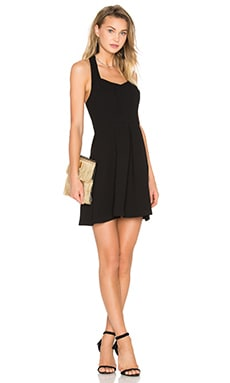 Seamed Halter Dress in Black