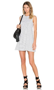 A-Line Sleeveless Dress in Black & White