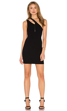 BCBGeneration Seamless One Shoulder Dress in Black