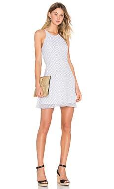 Cross Back Dress in White Combo