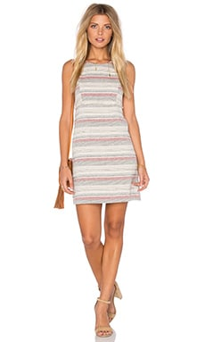 Crochet Stripe Dress in Sand Combo