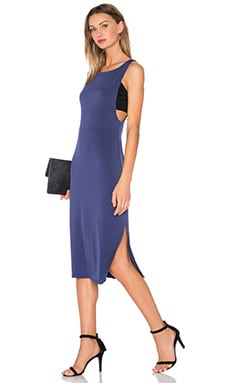 BCBGeneration Cocktail Fitted Midi Dress in Navy Sea