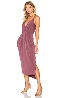 BCBGeneration Pencil Midi Dress in Dusty Eggplant