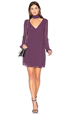 Bow Dress in Plum Black